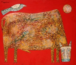 Cattle and bird (הגדל)