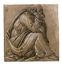 Botticelli - Study for a seated St. Joseph