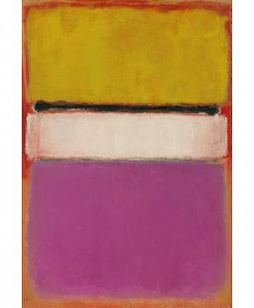 rothko, 1950 White center  - yellow and pink (הגדל)
